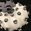 Thumbnail: Pumpkin, White, grey chunky heart swarovski crystals