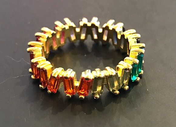 Ring, Multi Color Stones