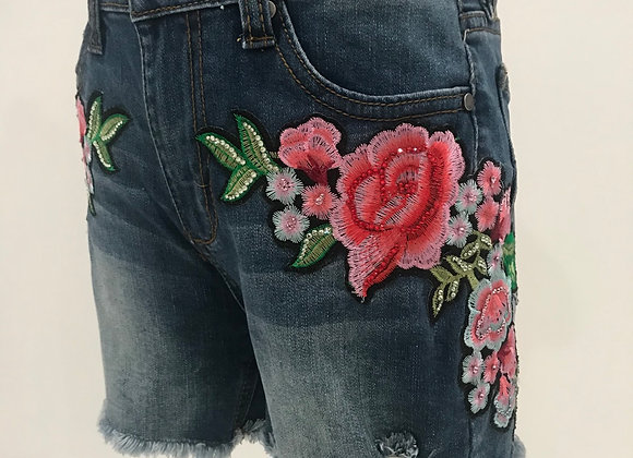 Denim Cut Off Shorts, JOES JEANS, D & G Designer Floral Patches