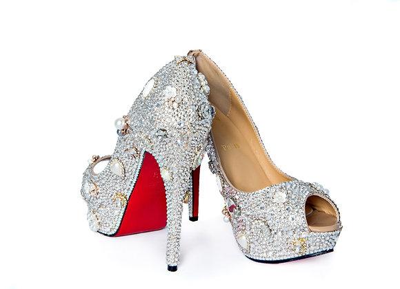 Christian Louboutins, High Heel Shoes, Swarovski Crystals