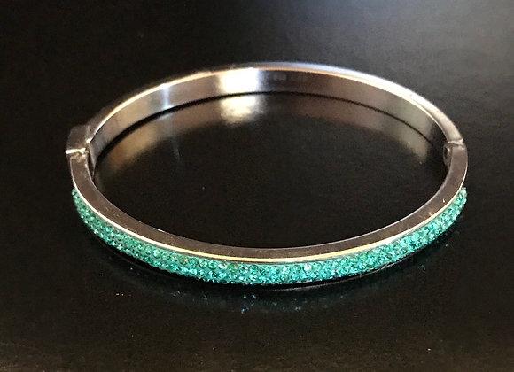 Bracelet, Bangle, Aqua Crystals
