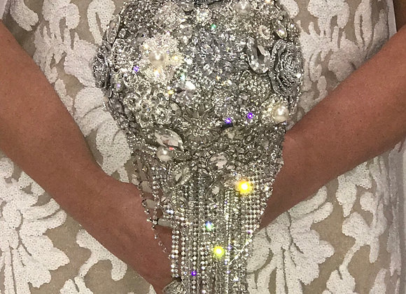 Wedding, Bridal Bouquet, Swarovski Crystals