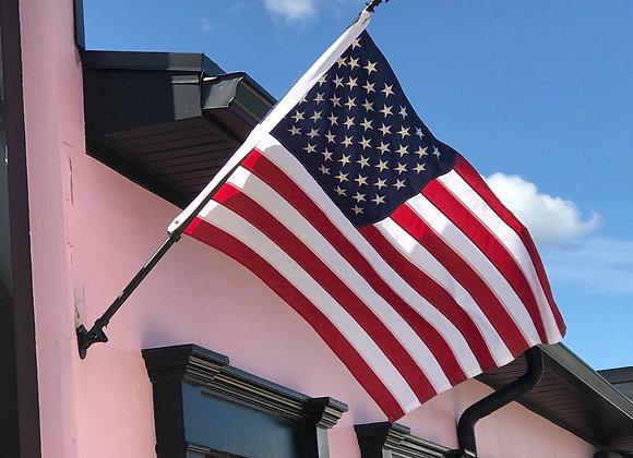 United States Flag, 50 Stars Swarovski Crystals, 3 x 5
