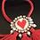 Thumbnail: Bracelet, Heart, Red