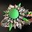 Thumbnail: Bracelet, Flower, Crystals, Orange/Green/White