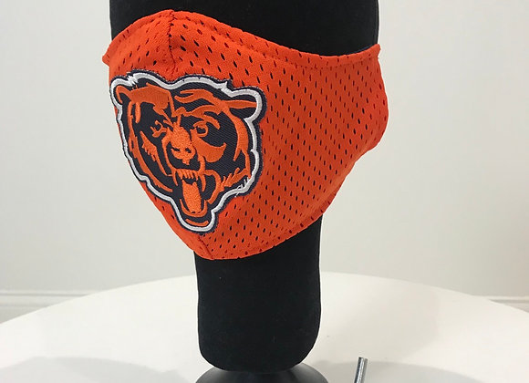 NFL Chicago Bears Mascot, Orange Jersey, GLAMical face mask
