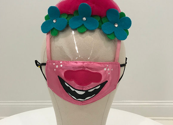 TROLLS, Poppy, character face shield, Swarovski Crystals, GLAMical face m