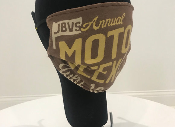 JBVS ANNUAL MOTO WEEK, Graphic T-shirt, Brown, GLAMical face mask