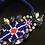 Thumbnail: Bracelet, Floral, Blue