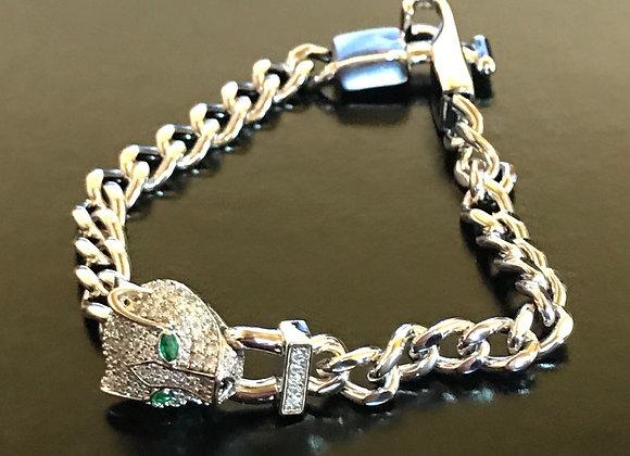 Bracelet, Sterling Silver, Leopard