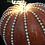 Thumbnail: Pumpkin, Orange, Pearl Bead Trim, Lights