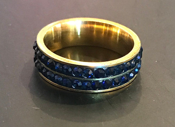 Ring, Dark Blue Stones