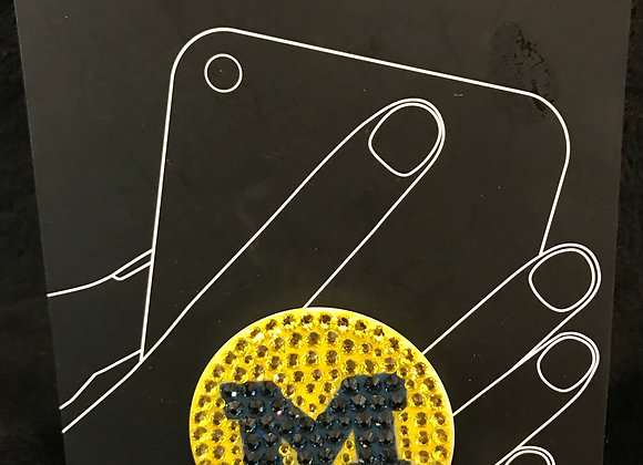 CELL PHONE - Pop Sockets, Phone Grip & Stand, Swarovski Crystal U Of M