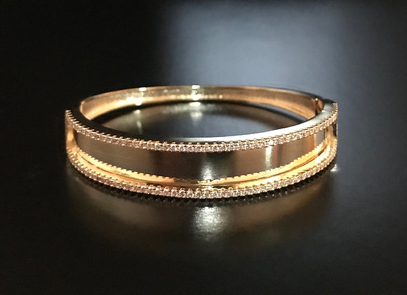 Bracelet, Bangle, Cubic Zirconia, Rectangle Border
