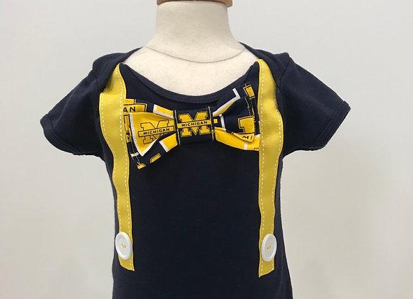 U of M, Wolverines, S/S Tuxedo Shirt