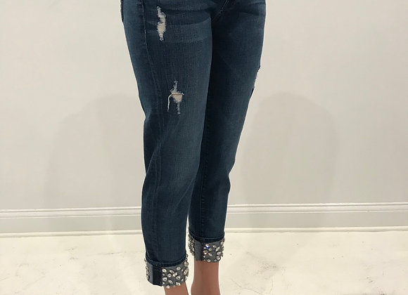 Denim Jeans, 7 FOR ALL MANKIND, Blue, Crystal Cuffs