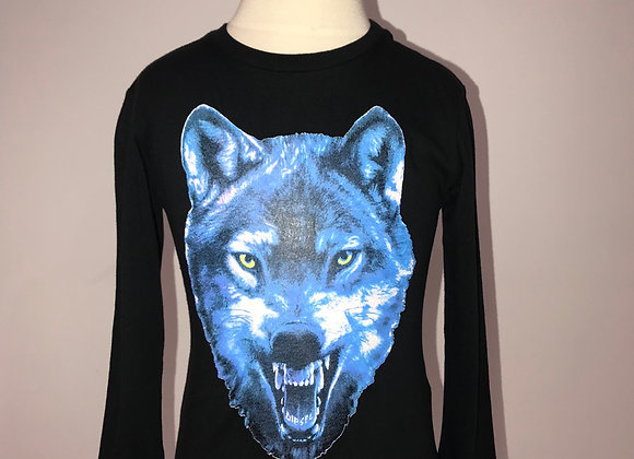 WOLVES, L/S Crew Neck Shirt, Black