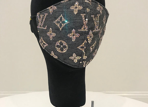 LOUIS VUITTON, Cashmere, Black/Gray,GS Swarovski Crystals-entire, GLAMical mask
