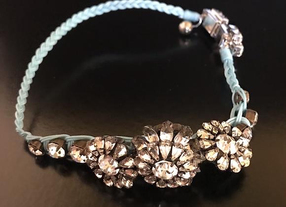 Bracelet / Choker, Flowers, Crystals, Clear