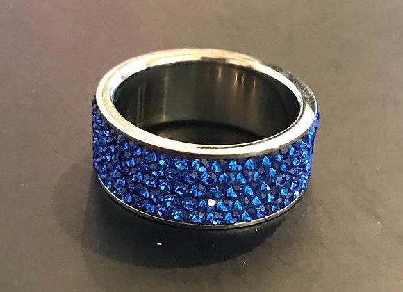 Ring, Cobalt Blue Stones