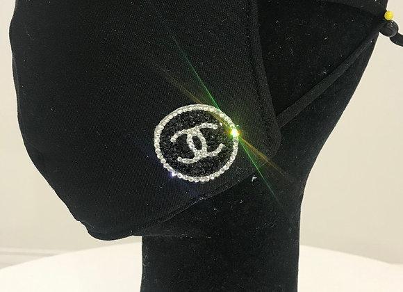 CHANEL, Neo Prene, 2 (S) Round logos, Swarovski Crystals, GLAMical face mask