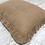 Thumbnail: Decorative Throw Pillow, Burlap, Fringe