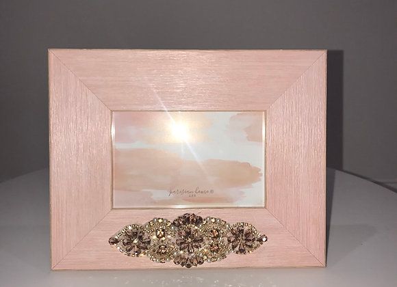 Pink, Photo Frame, pearl and rhinestone applique