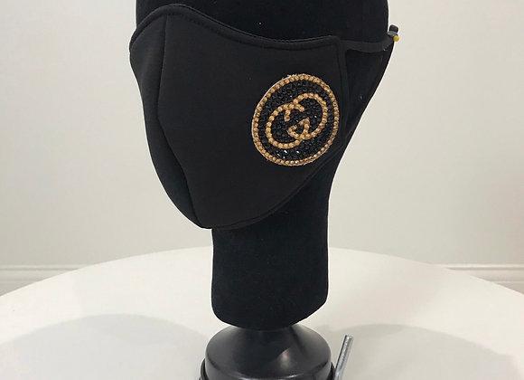 Black Neo Prene, Interchangeable Round logo-Side, Swarovski Crystal, GLAMical ma