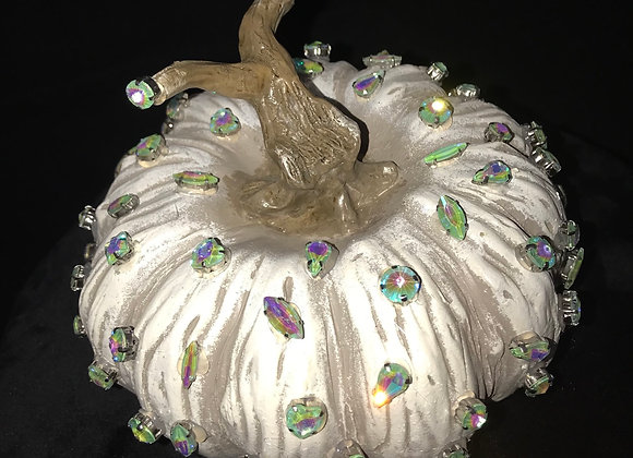 Pumpkin, White, Green Chunky Swarovski Crystals