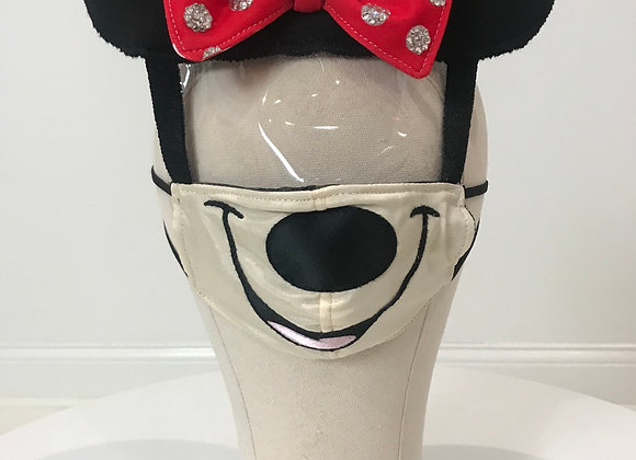 MINNIE MOUSE, character face shield, Swarovski Crystals, GLAMical face mask