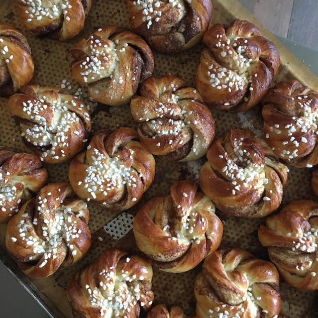 """Kanelbullar"" our homemade famous Cinnamon Rolls"