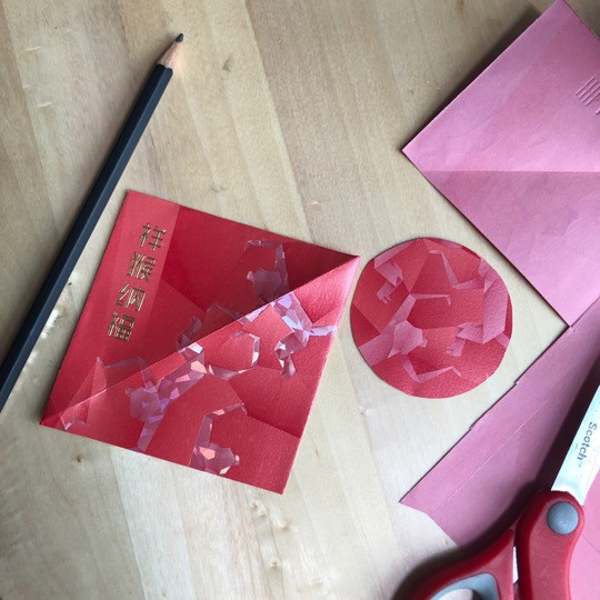 Upcycled Butterflies from Red Packets - A CNY DIY Craft by WahSoSimple