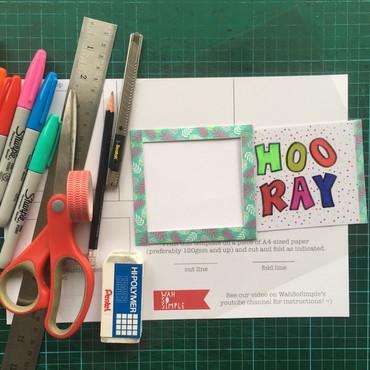 DIY Magic Slider Card - Download a Printable Template