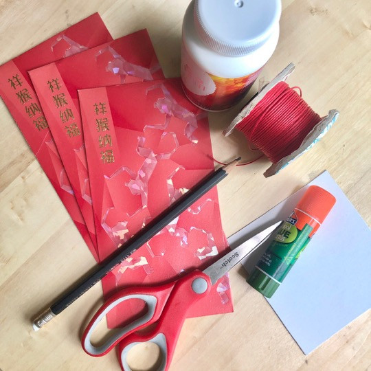 Upcycled Mini Lanterns from Red Packets - A Chinese New Year DIY Craft by WahSoSimple