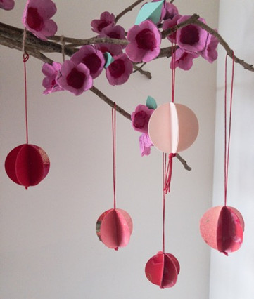 Mini Upcycled Lunar New Year Lanterns!