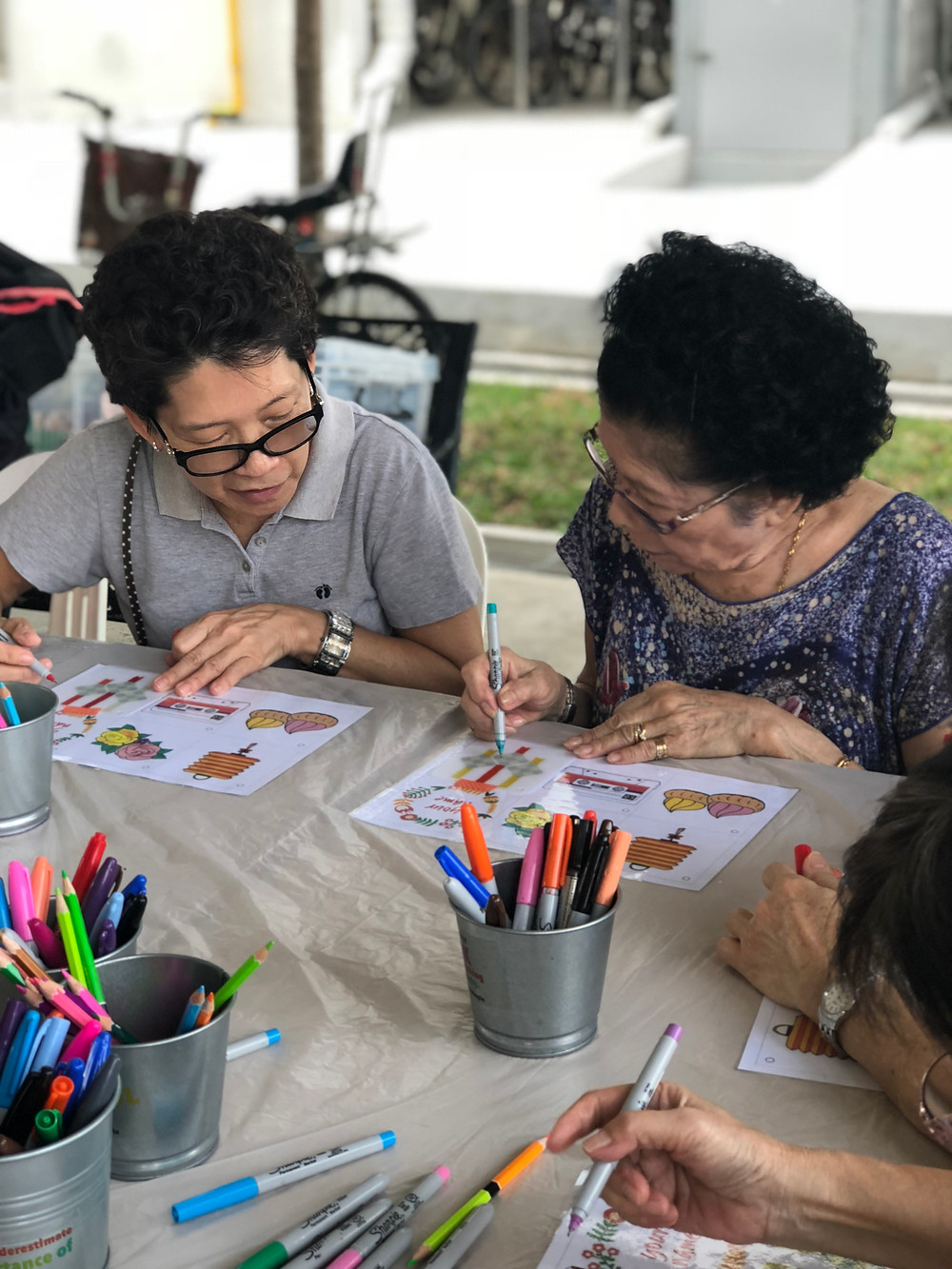 Crafting with the seniors at community events