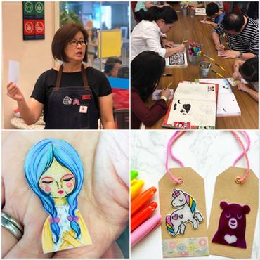 MAKE workshops at NLB - Crafting with Shrink Plastic