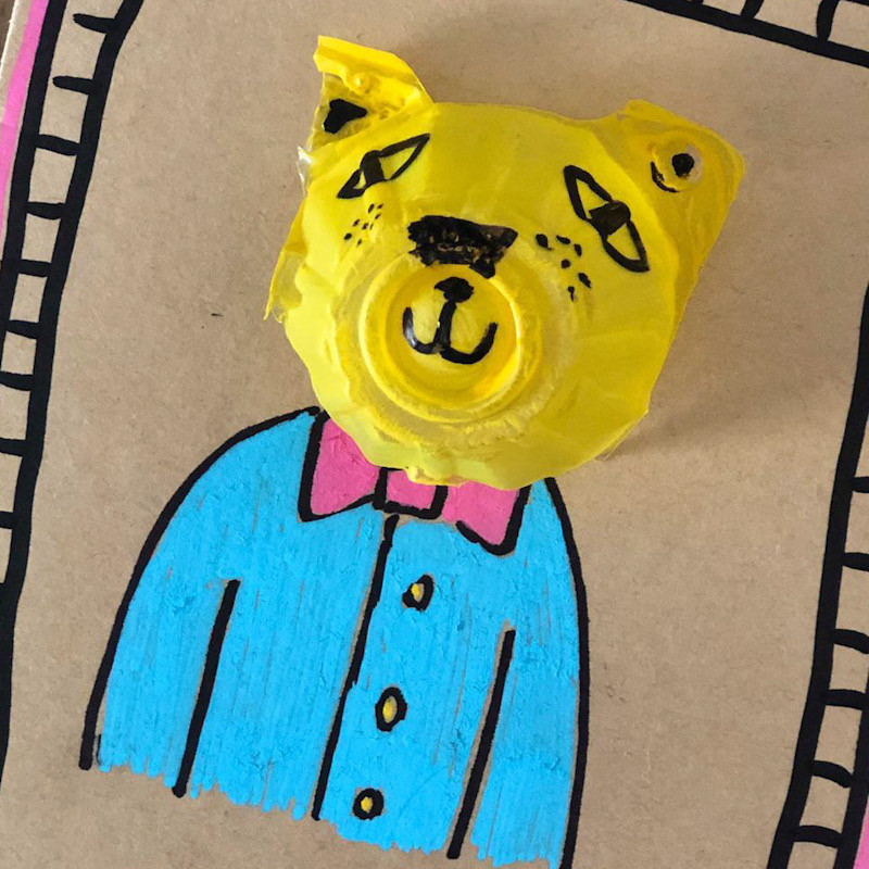 WahSoSimple Upcycling Craft Egg Carton to 3D Card