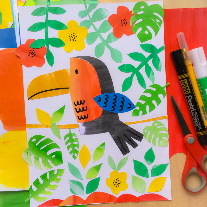 WahSoSimple Upcycling Paper Collage