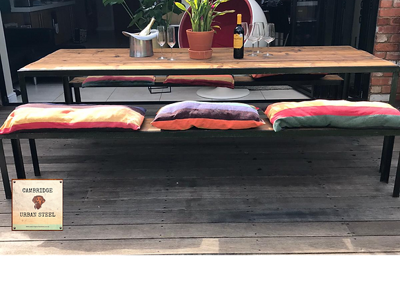The 'Kings' Table with 2 x 'Trinity' Benches