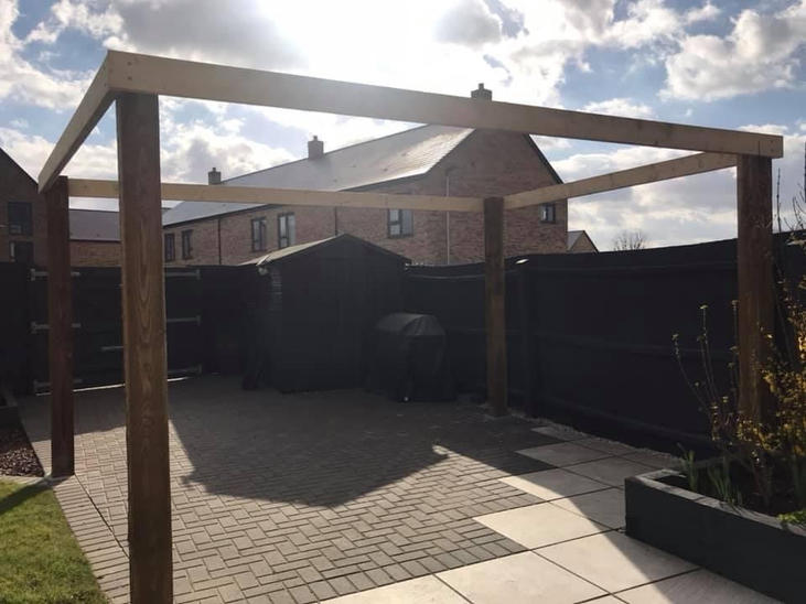 Pergola ready for the hot Summer days