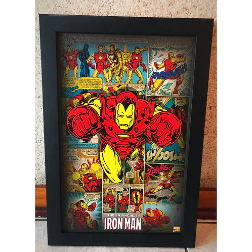 Marvel comics frames Thor and Iron man