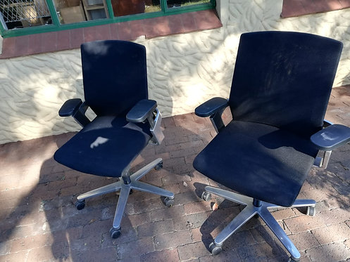 Black swivel chairs
