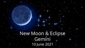 New Moon and Eclipse in Gemini 10 June 2021