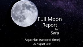 Second Full Moon in Aquarius 22 August 2021