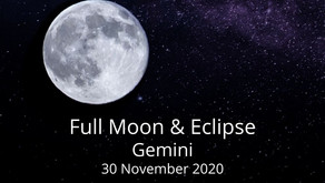 Full Moon and Eclipse in Gemini 30 November 2020