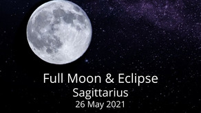 Full Moon and Eclipse in Sagittarius 26 May 2021