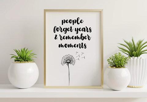 Positive Quote Print