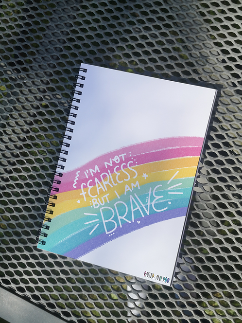 Not fearless but brave... A5 Notebook