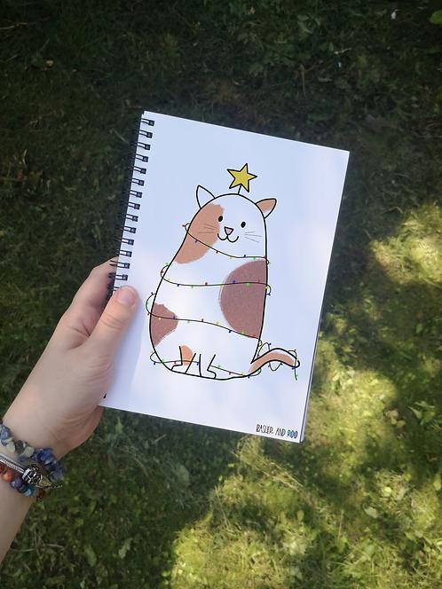 Christmas Cat A5 Notebook